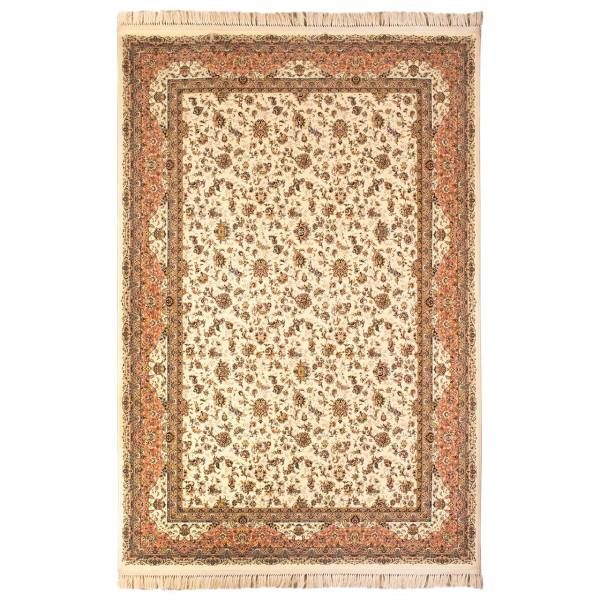 فرش ماشینی پاتریس طرح پالیز زمینه کرم
