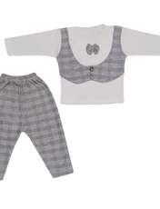 ست تیشرت و شلوار نوزادی پسرانه مدل جنتلمن کد T10 -  - 5