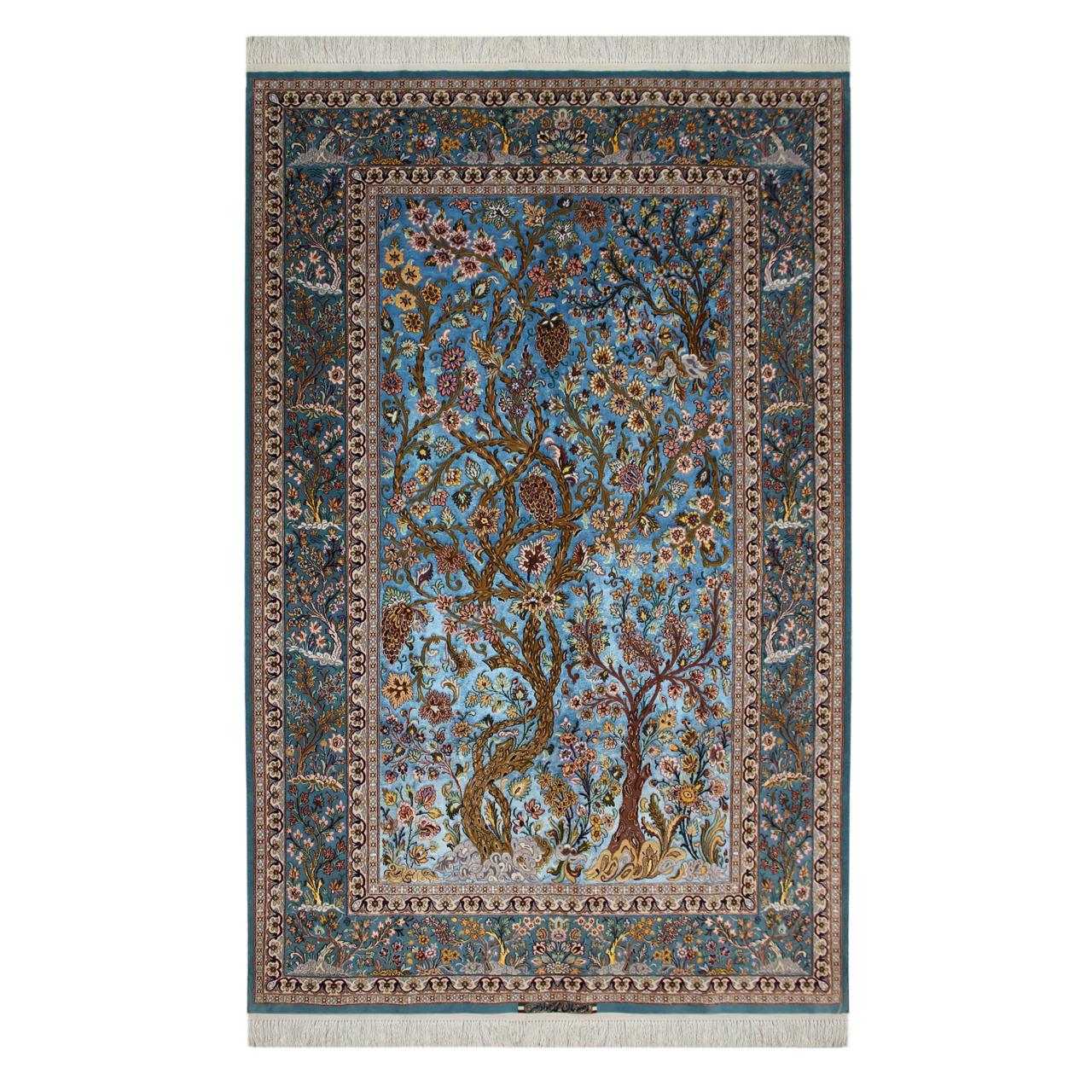 فرش  دستبافت سه و نیم متری محمد جواد نصر  کد 1007