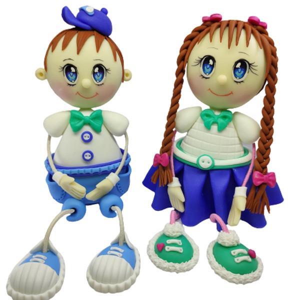 مجسمه طرح دختر و پسر کد 001 مجموعه 2 عددی