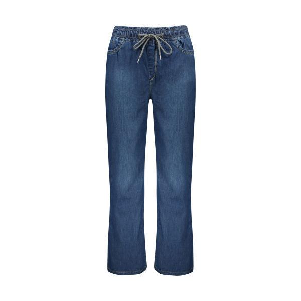 شلوار جین زنانه مدل بگ کاغذی رنگ تیره