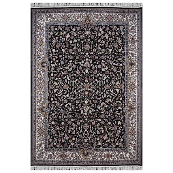 فرش ماشینی فرش هدیه طرح افشان زمینه سورمه ای