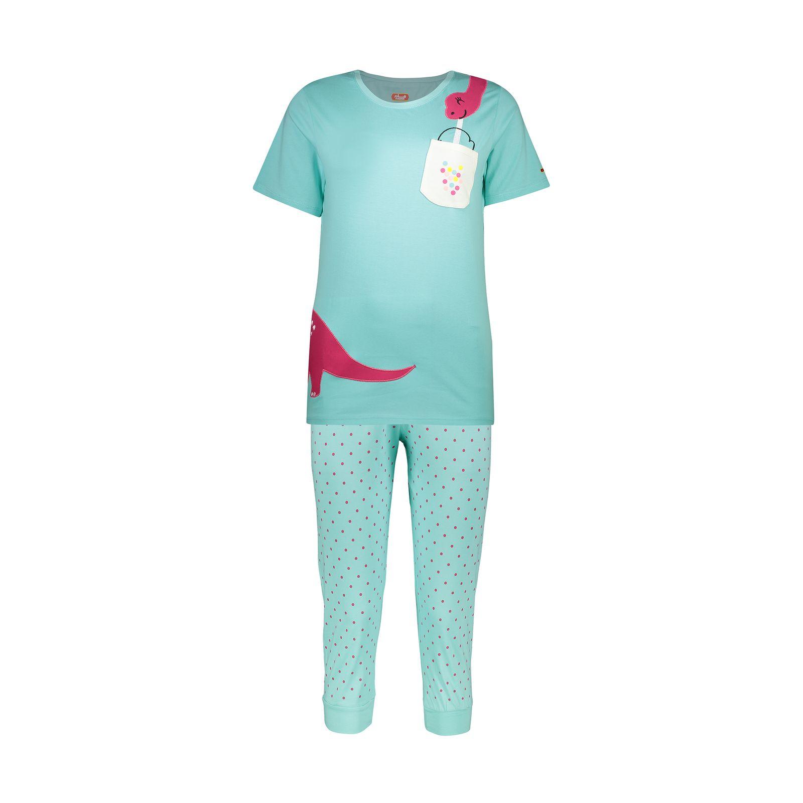 ست تی شرت و شلوارک راحتی زنانه مادر مدل 2041100-54 -  - 2