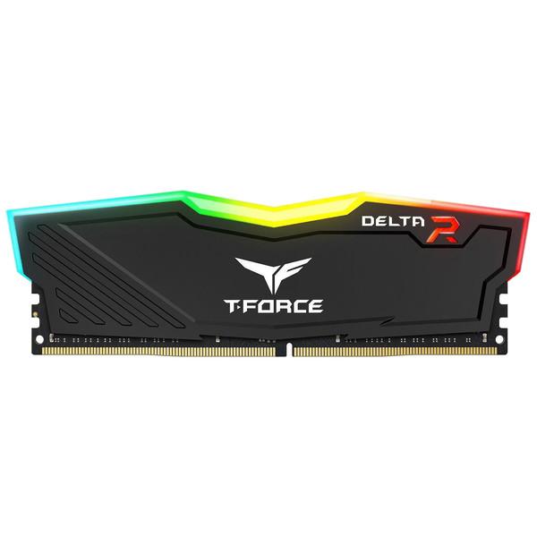 رم دسکتاپ DDR4 تک کاناله 3200 مگاهرتز CL16 تیم گروپ مدل T-Force Delta RGB ظرفیت 8 گیگابایت