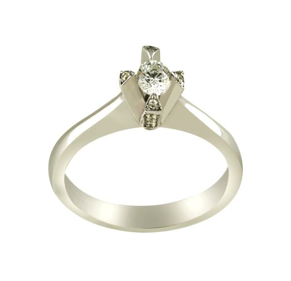 انگشتر طلا 18 عیار زنانه جواهری سروری مدل 9612