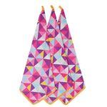 دستمال آشپزخانه طرح مثلث مدل S11 بسته 3 عددي