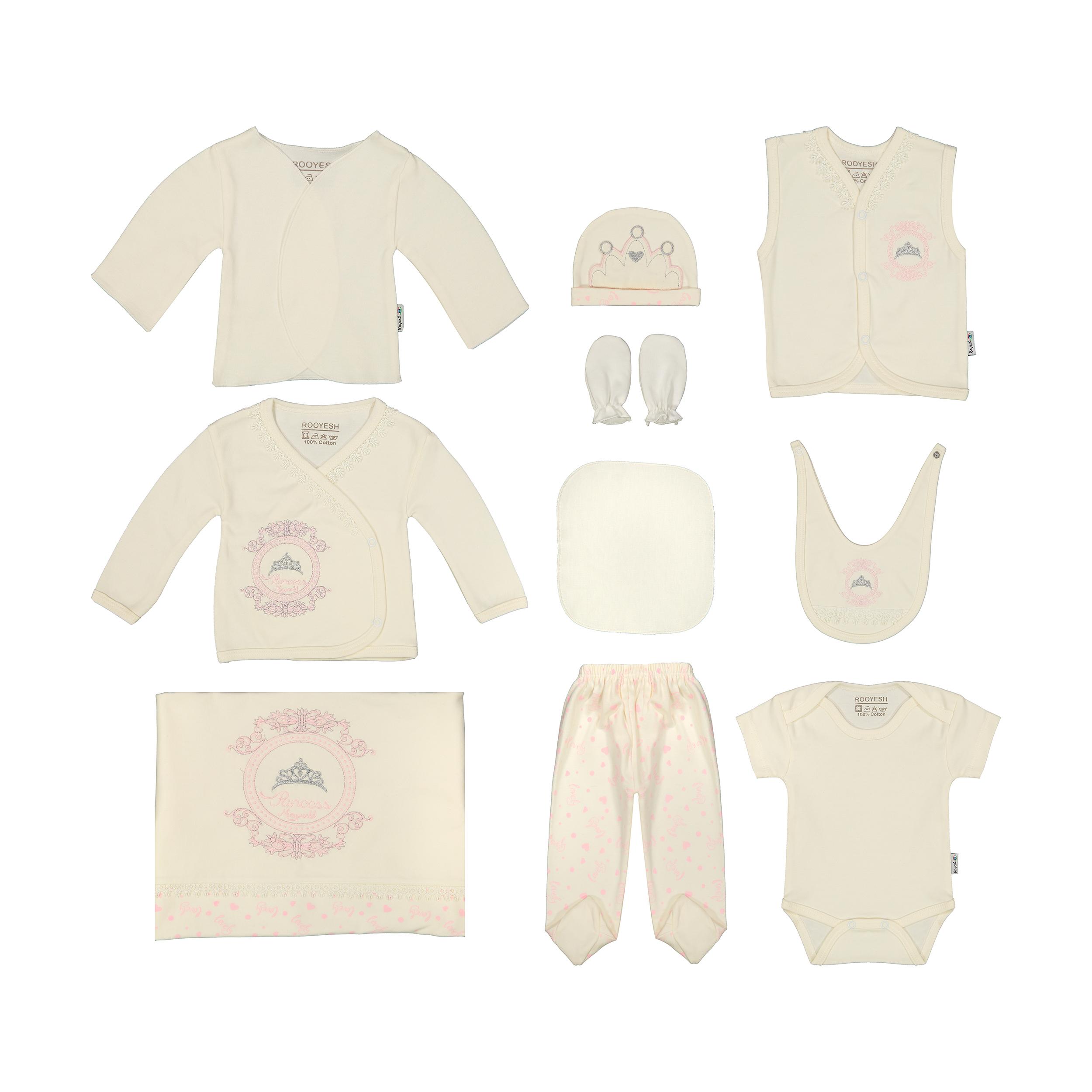 ست 10 تکه لباس نوزاد رویش کد 2