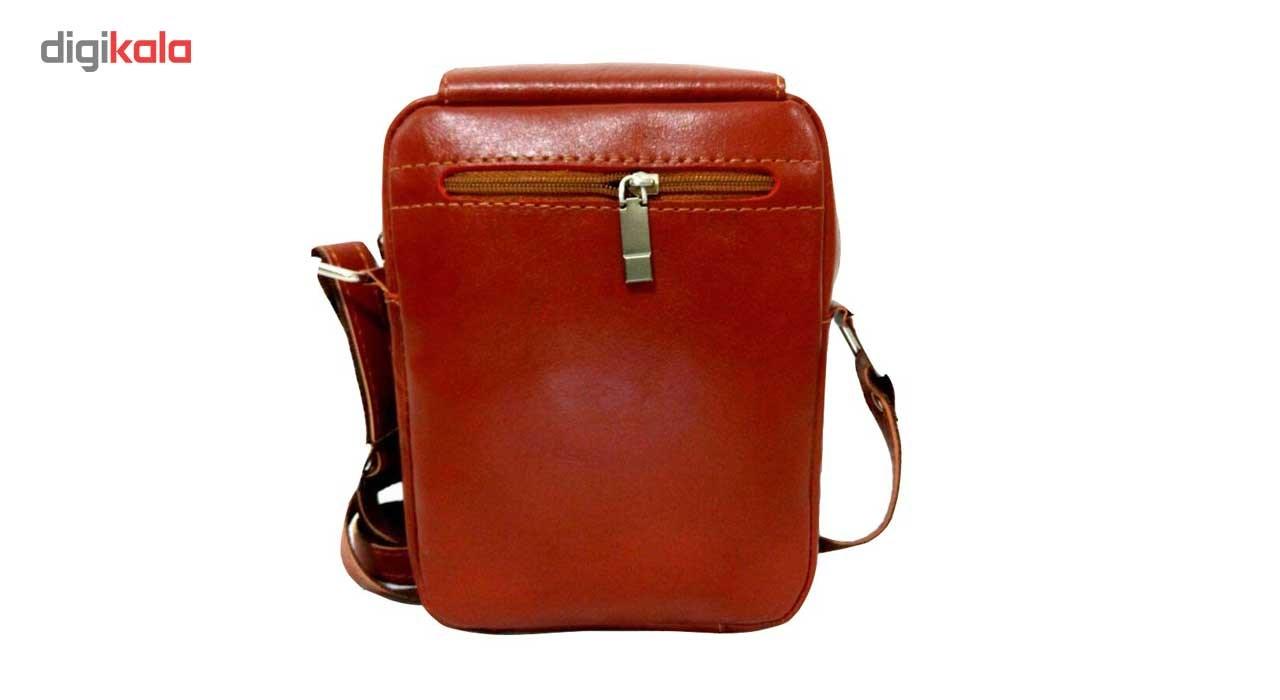 کیف رو دوشی چرم طبیعی زانکو چرم مدل KD-132