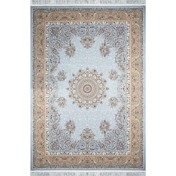 فرش ماشینی مشهد اردهال طرح 12109 زمینه آبی رویال