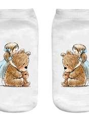 جوراب بچگانه طرح خرس عروسکی کد o32 -  - 1