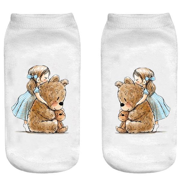 جوراب بچگانه طرح خرس عروسکی کد o32