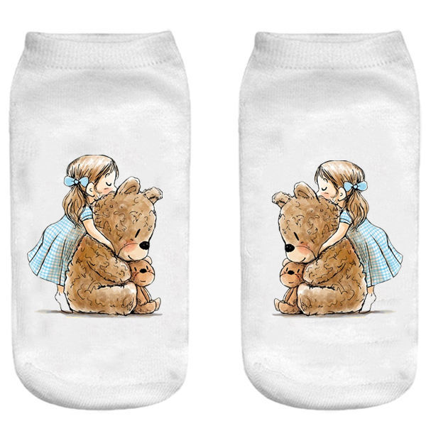 جوراب بچگانه طرح خرس عروسکی کد o32 -  - 2