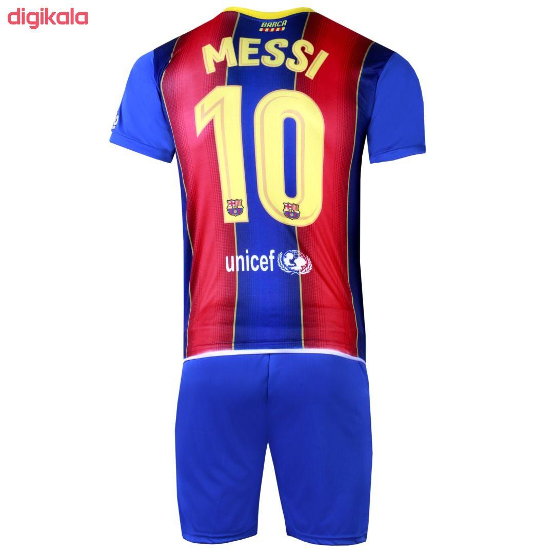 ست 4 تکه لباس ورزشی پسرانه طرح بارسلونا مدل مسی 2021 main 1 1