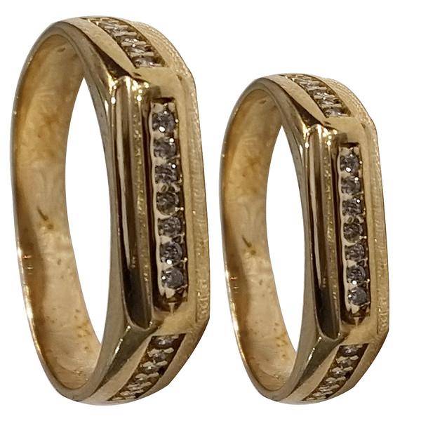 ست انگشتر زنانه و مردانه سلین کالا مدلce-As7