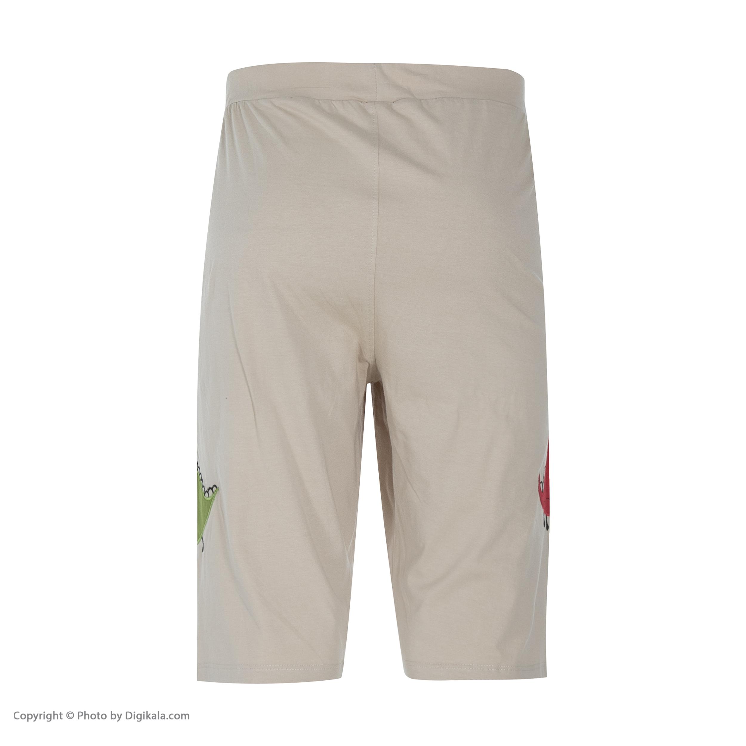 ست تی شرت و شلوارک راحتی مردانه مادر مدل 2041110-07 -  - 10