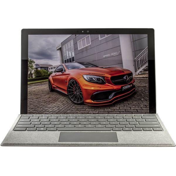 تبلت مایکروسافت مدل Surface Pro 2017 - C به همراه کیبورد سیگنیچر  و ماوس و قلم 2017 نقره ای - ظرفیت 256 گیگابایت
