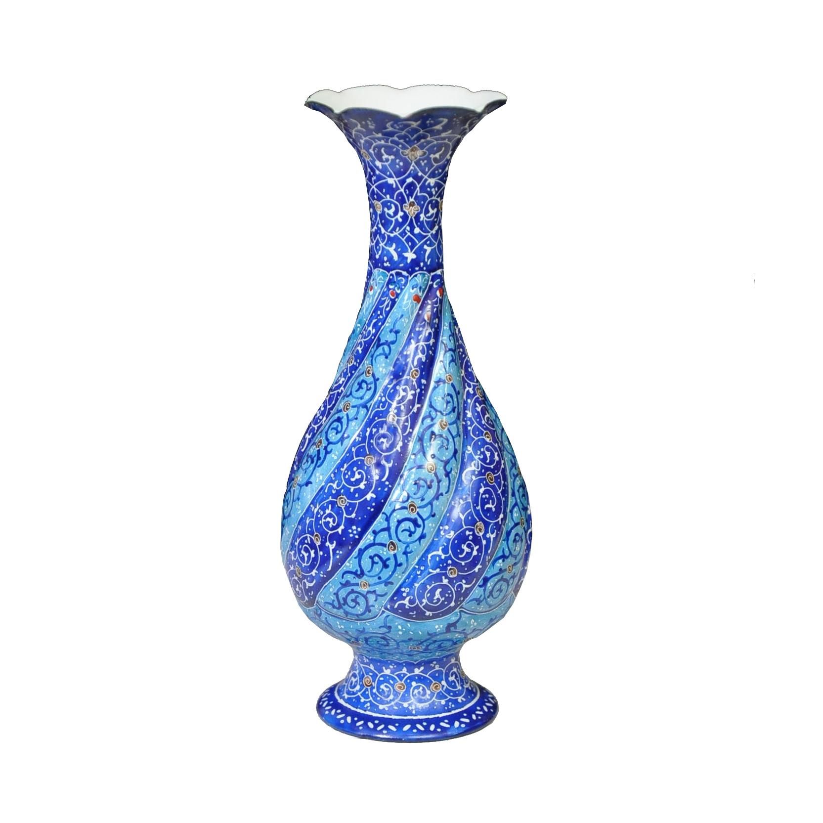Copper Enamel vase, code 20