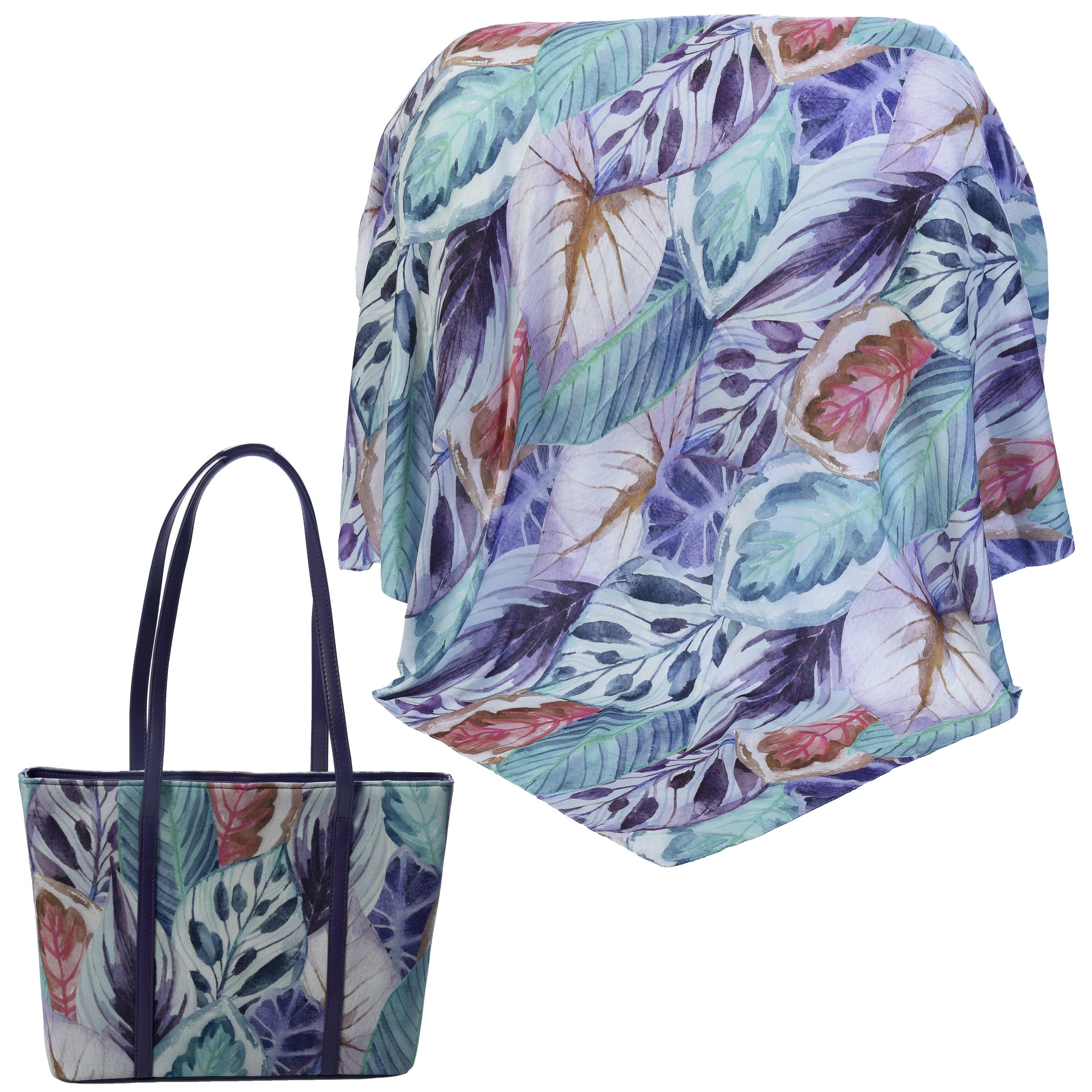 ست کیف و روسری زنانه کد 980228-T1