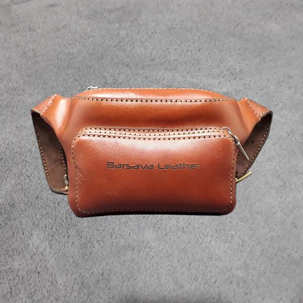 کیف کمری چرم بارثاوا مدل 1302