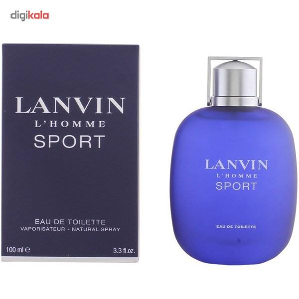 ادو تویلت مردانه لنوین مدل L`Homme Sport حجم 100 میلی لیتر