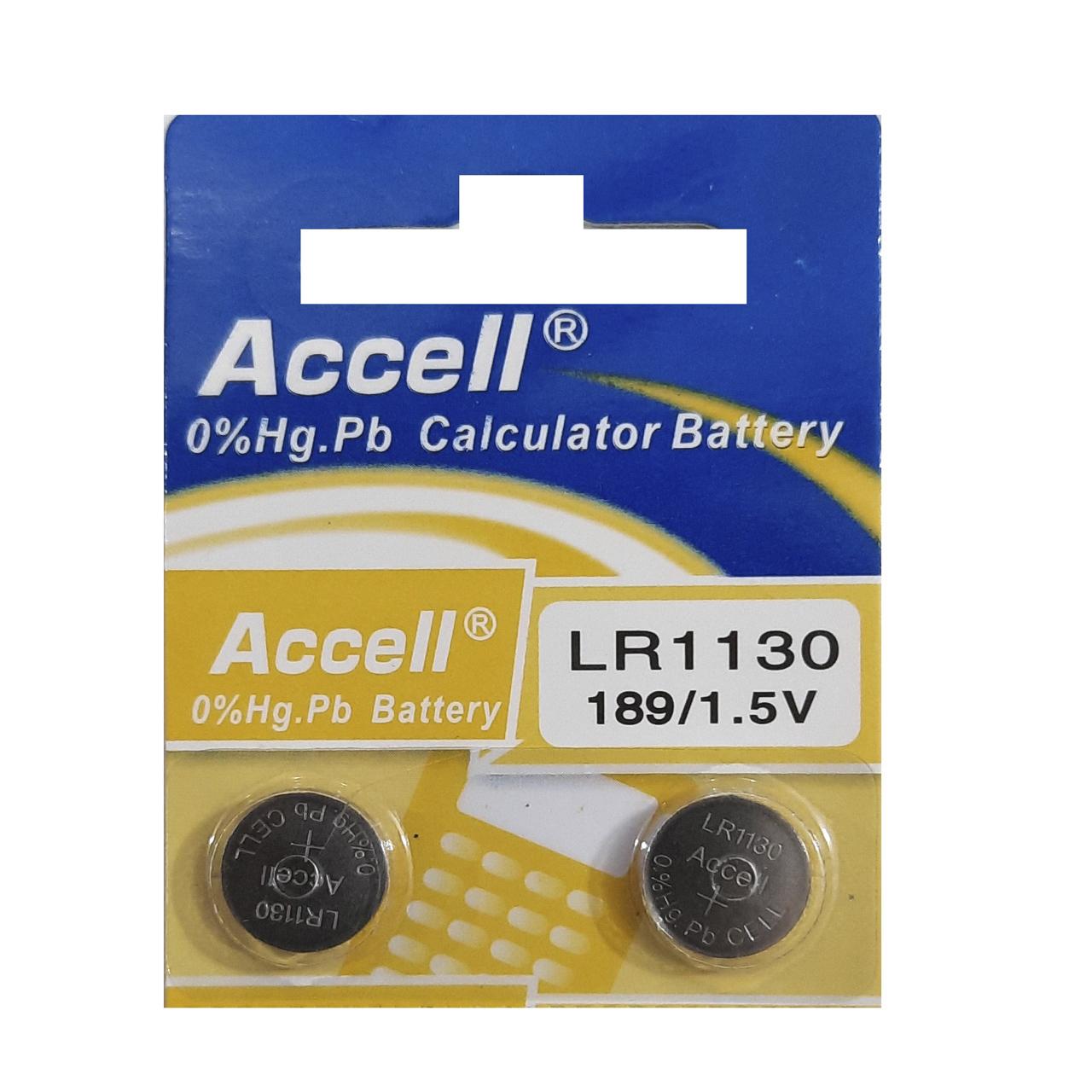 بررسی و {خرید با تخفیف}                                     باتری ساعت  اکسل مدل  LR1130 بسته 2 عددی                              اصل