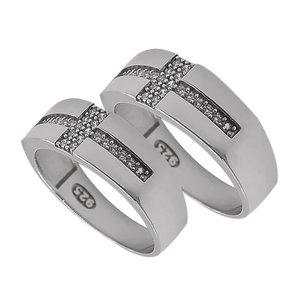 ست انگشتر نقره زنانه و مردانه مدل se145