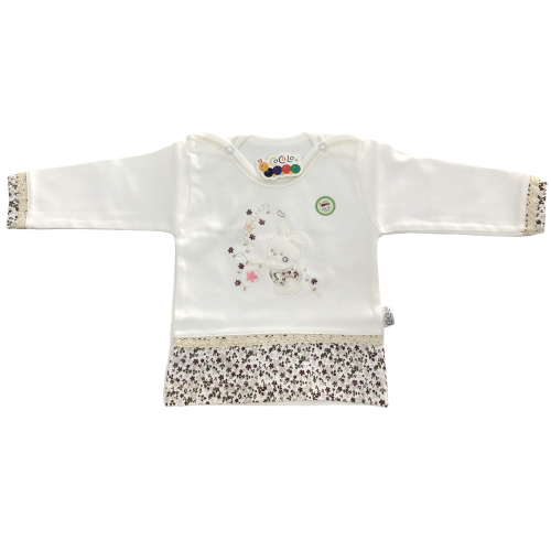 ست تی شرت و شلوار نوزادی دخترانه کوکالو مدل خرگوش