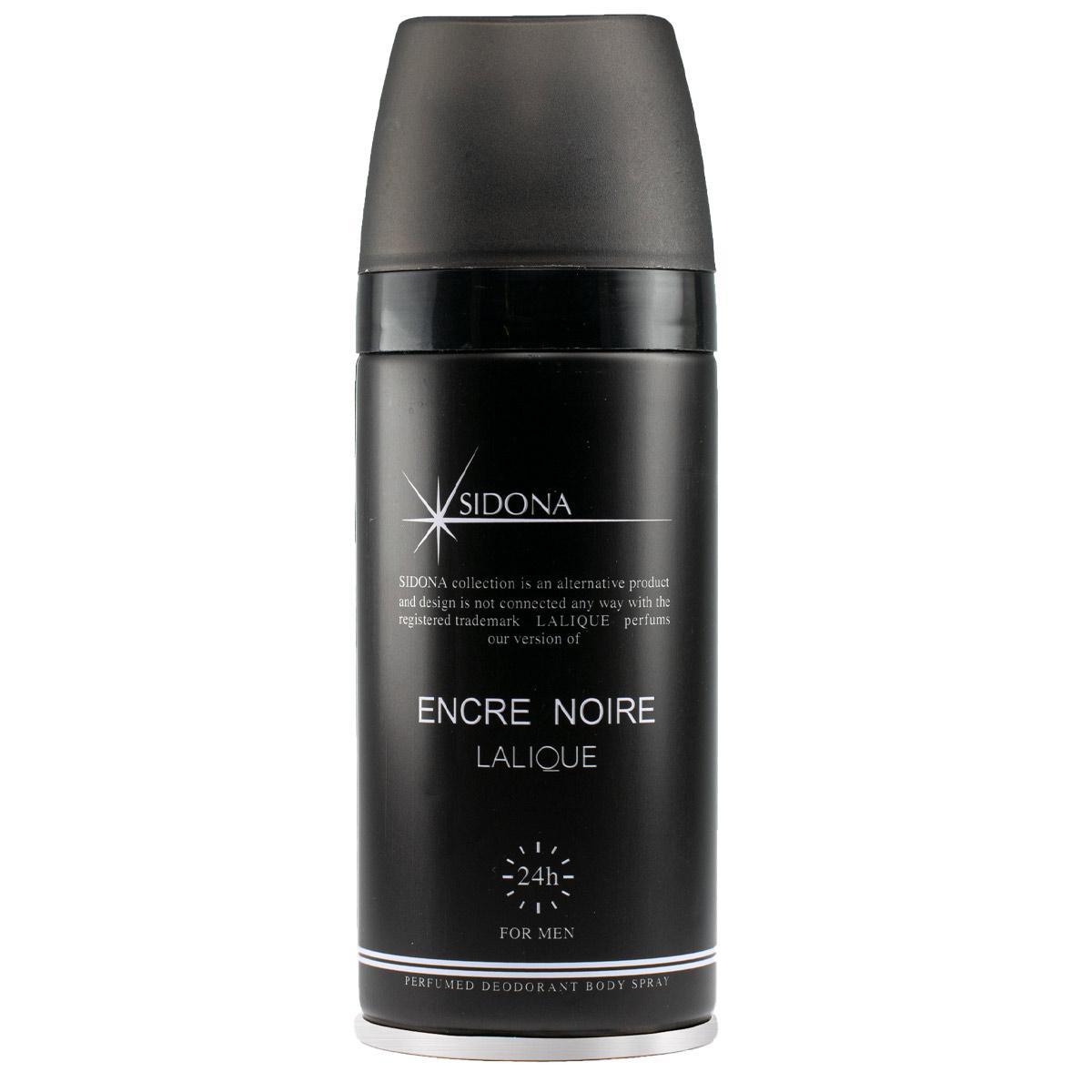 اسپری خوشبو کننده بدن مردانه سیدونا مدل Encre Noire حجم 150 میلی لیتر
