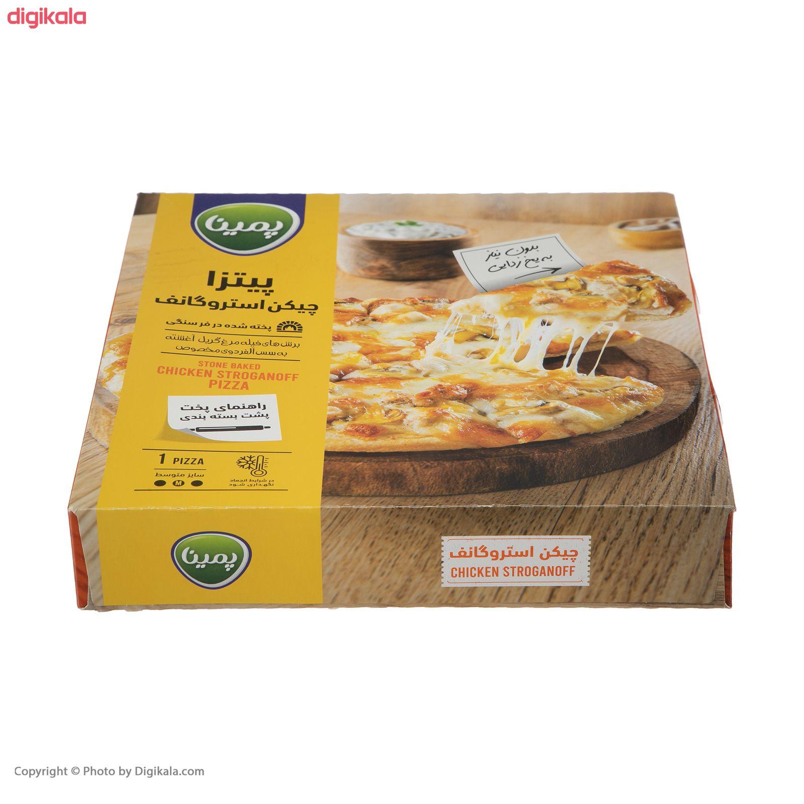 پیتزا چیکن استروگانف پمینا کاله مقدار 450 گرم main 1 3