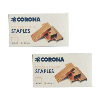 سوزن منگنه کرونا سایز 24/6 بسته 2 عددی