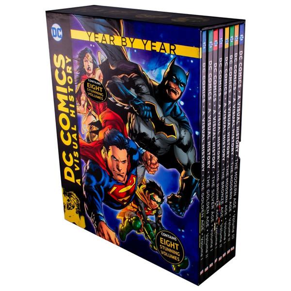 مجله DC COMICS A VISUAL HISTORY YEAR BY YEAR دسامبر 2017 مجموعه کامل ۸ جلدی