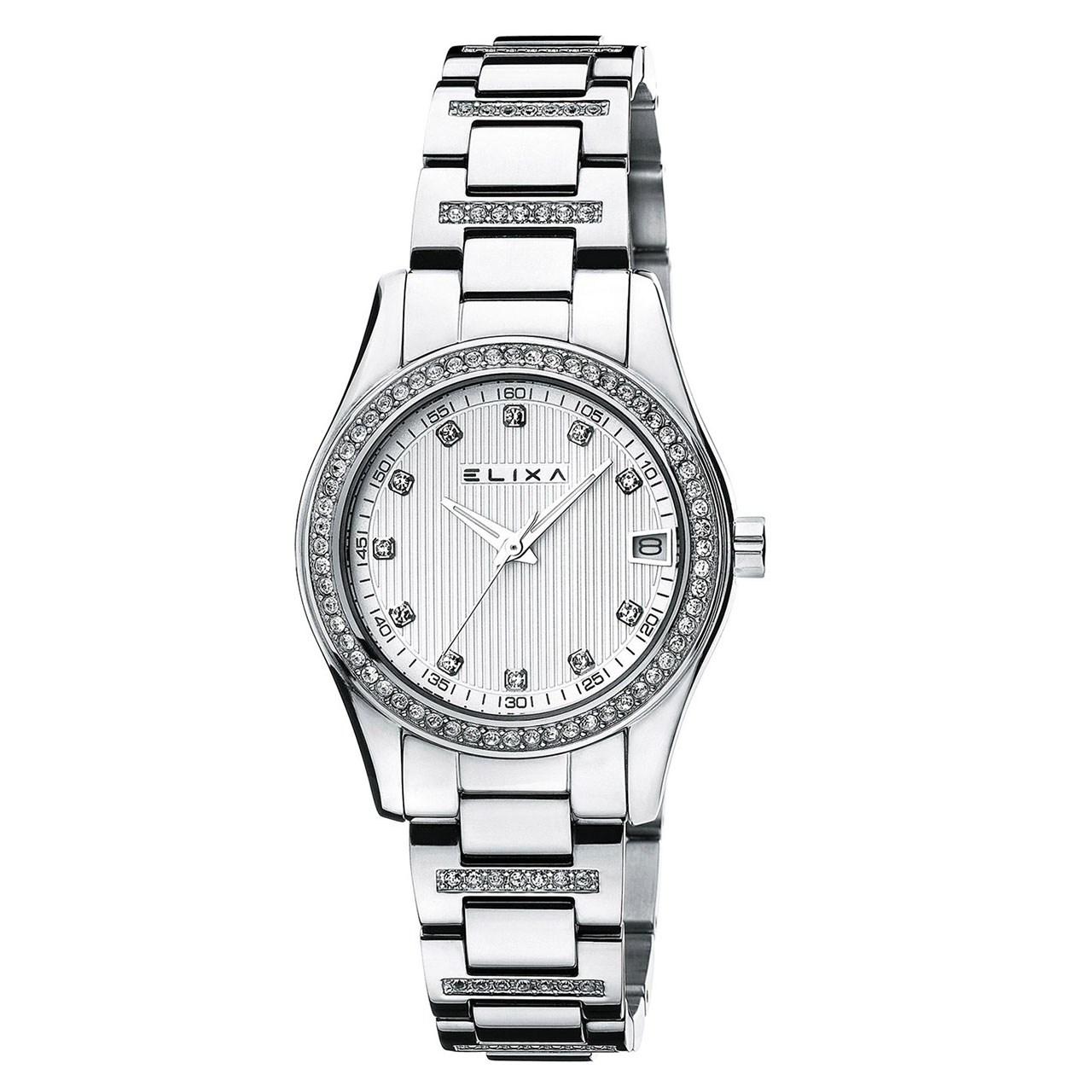 ساعت مچی عقربه ای زنانه الیکسا مدل E055-L167