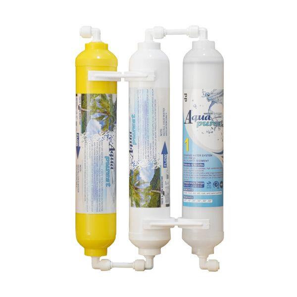 فیلتر تصفیه آب یخچال و فریزر آکوا پیورست مدل INLINE- NSF 03 مجموعه 3 عددی