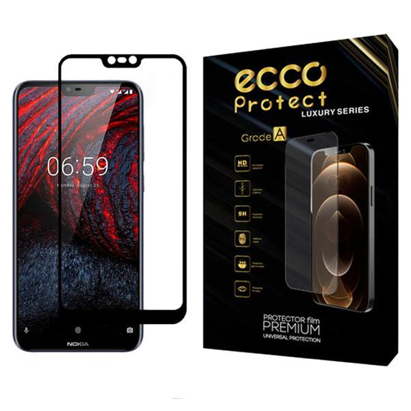 محافظ صفحه نمایش اکو پروتکت مدل Full مناسب برای گوشی موبایل نوکیا X6 / 6.1 Plus