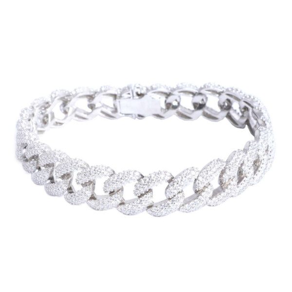 دستبند نقره زنانه مدل AMT_D033