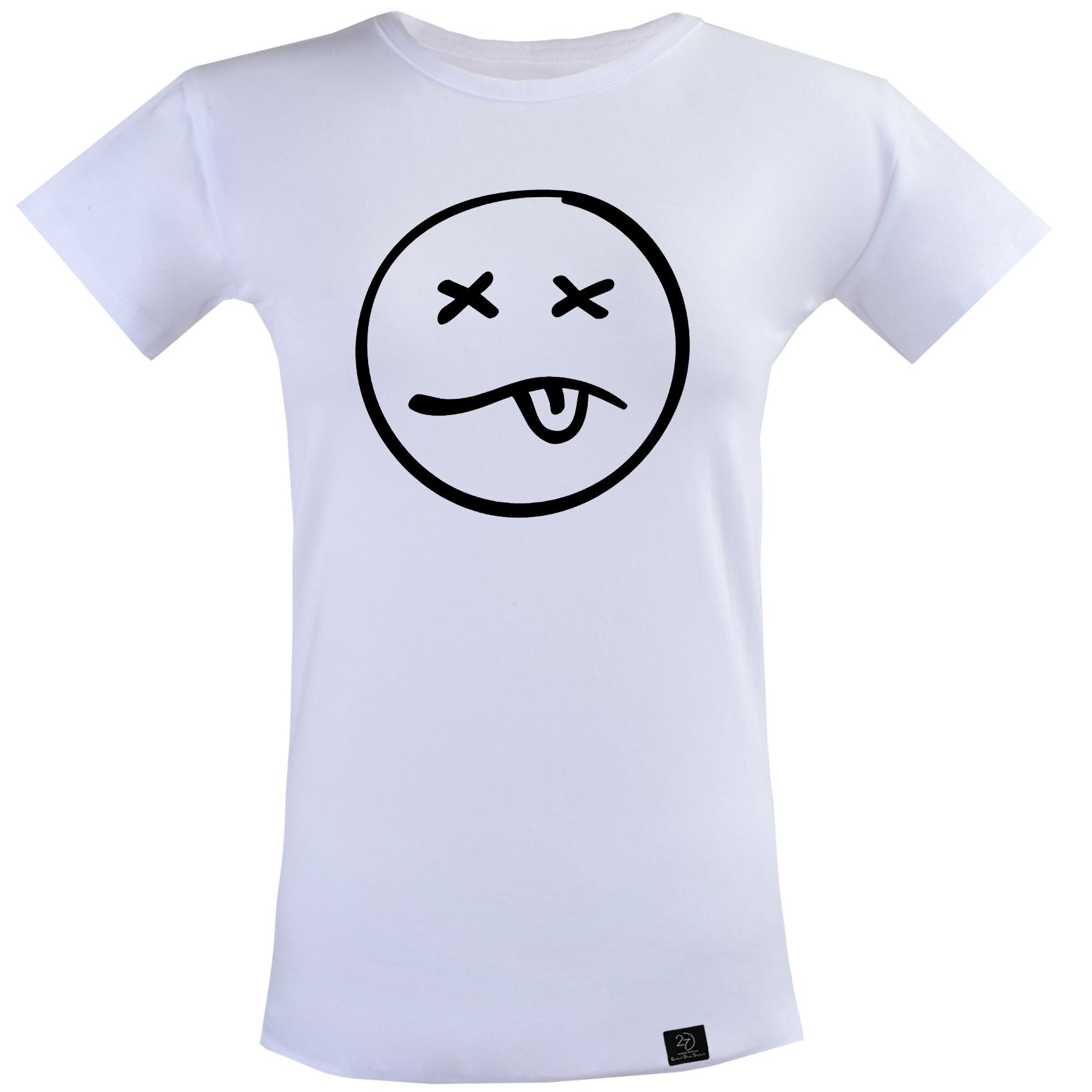 تی شرت آستین کوتاه زنانه 27 مدل dead کد T27 رنگ سفید