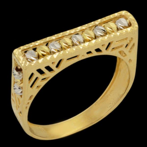 انگشتر طلا 18 عیار زنانه طلای مستجابی کد 670194