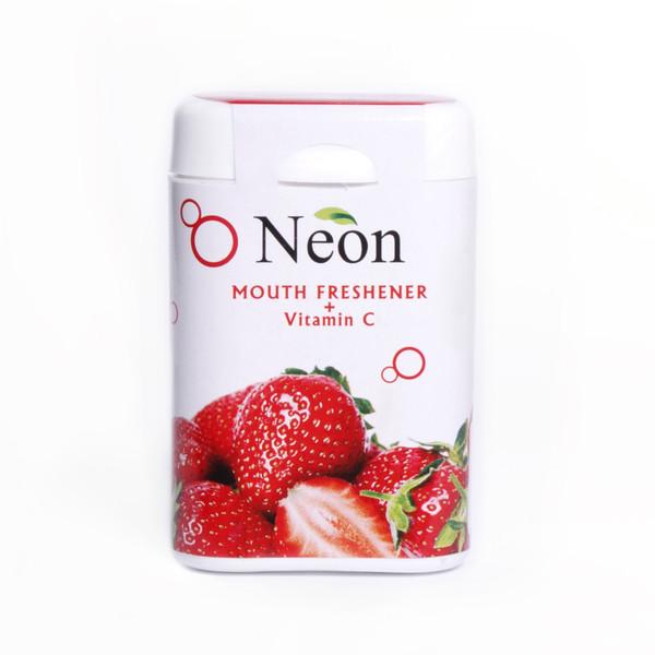 قرص خوشبو کننده دهان نئون با طعم توت فرنگی - 15 گرم