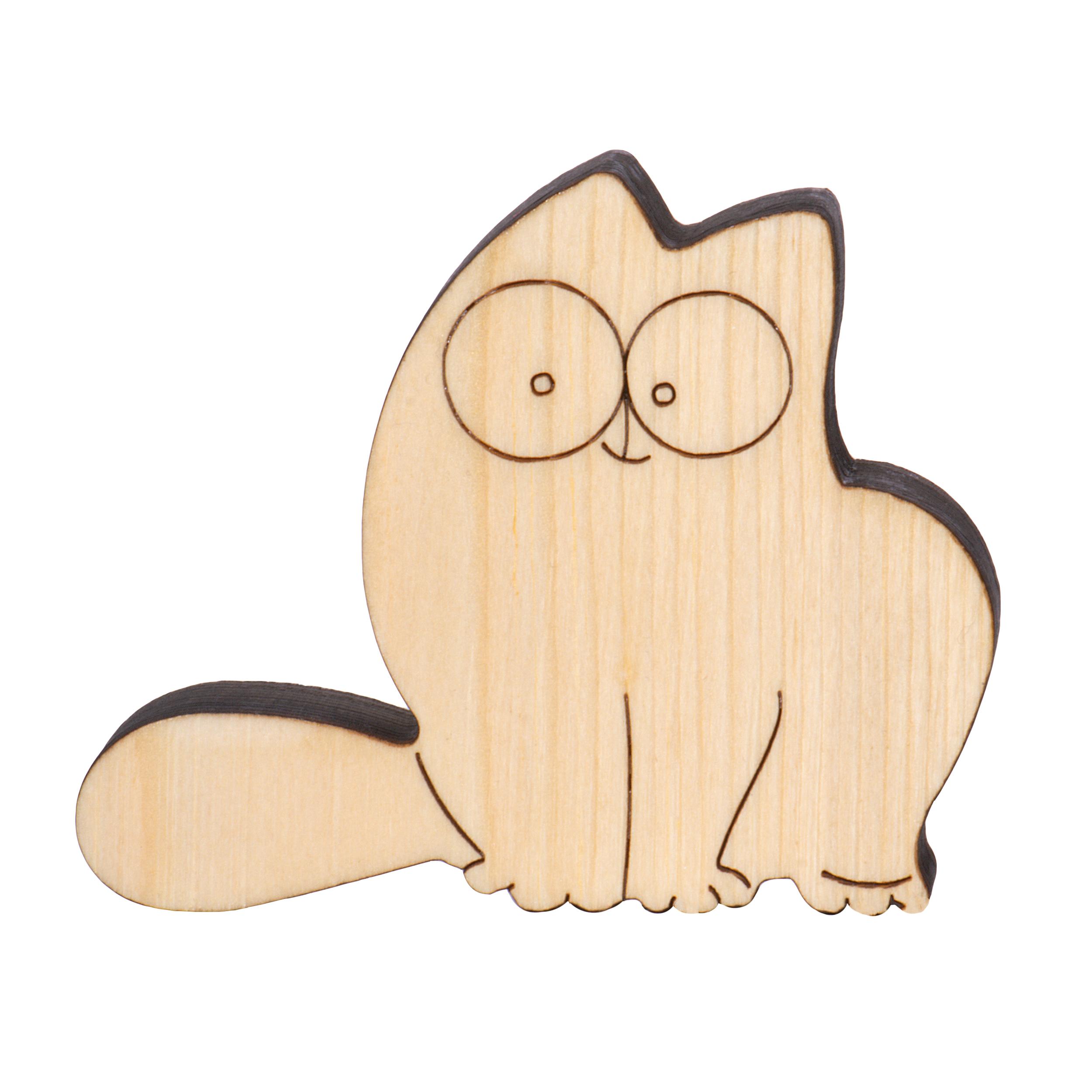 اسباب بازی چوبی مدل گربه