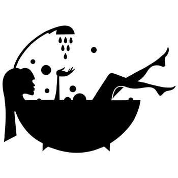 استیکر مستر راد طرح زن و حمام کد 007