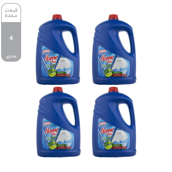 مایع ظرفشویی هوم پلاس مدل Lemon مقدار 3.75 کیلوگرم بسته 4 عددی