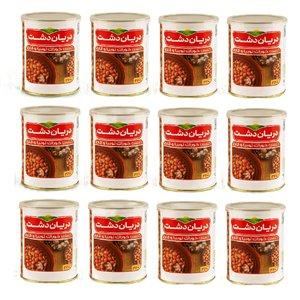 کنسرو لوبیا چیتی با قارچ دریان دشت - 380 گرم بسته 12 عددی