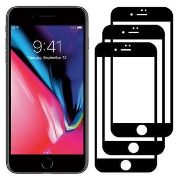 محافظ صفحه نمایش مدل FCG مناسب برای گوشی موبایل اپل iPhone 7 Plus بسته سه عددی