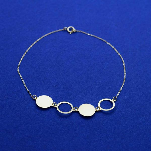 دستبند طلا 18 عیار زنانه کانیار گالری مدل B53