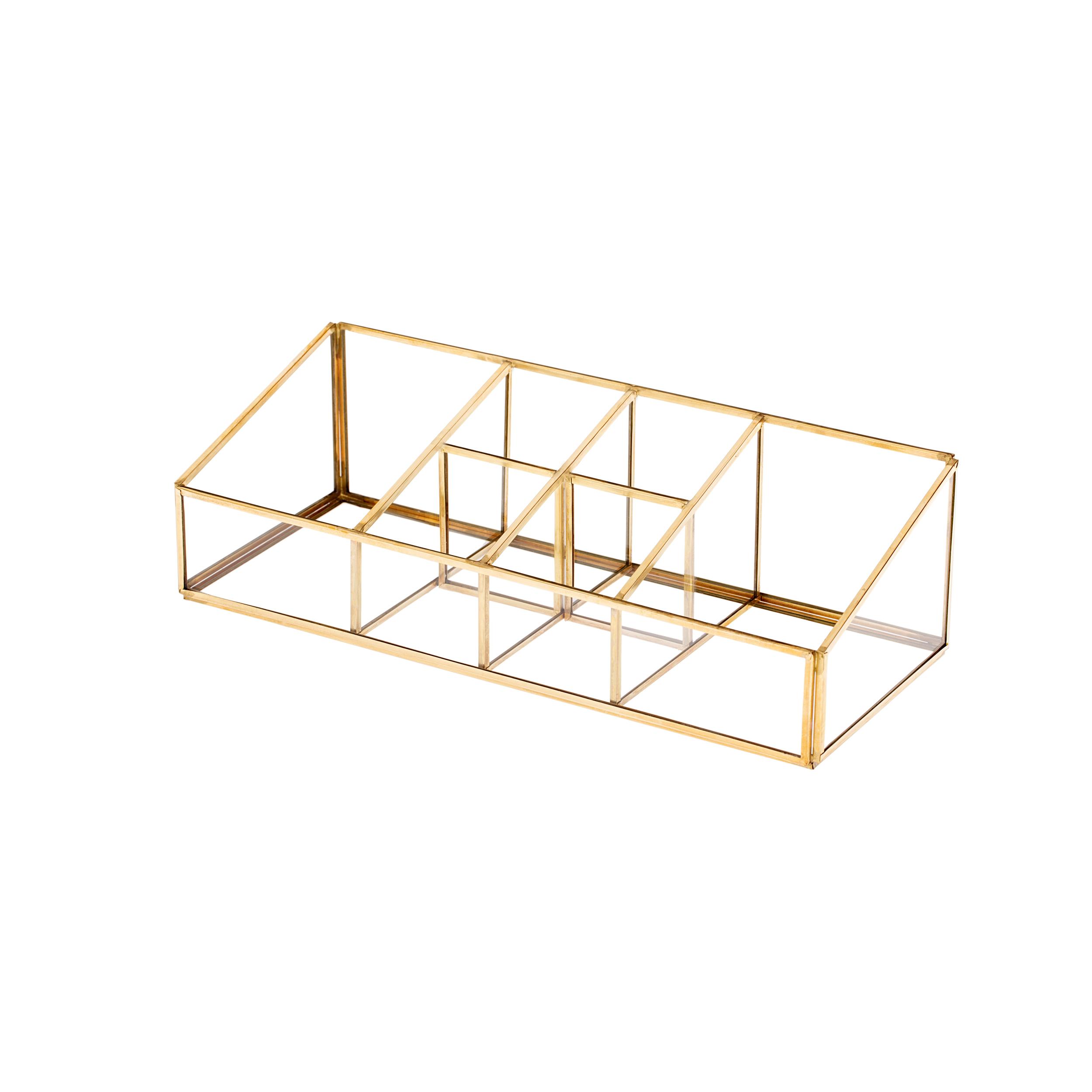 استند لوازم آرایشی شیشه ای مدل Sections کد BT2511