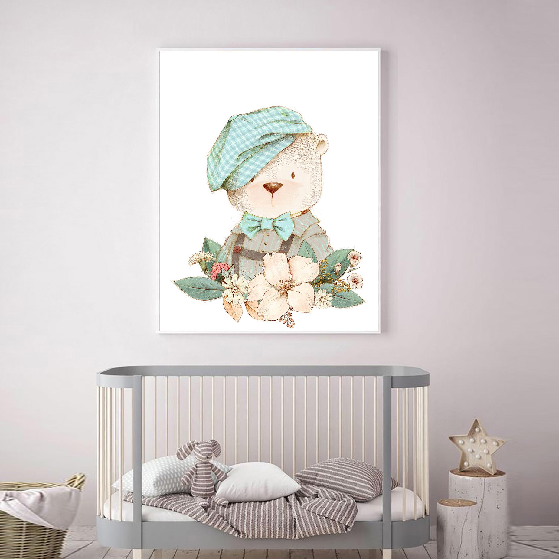 تابلو کودک و نوزاد مدل Elfap_bear101