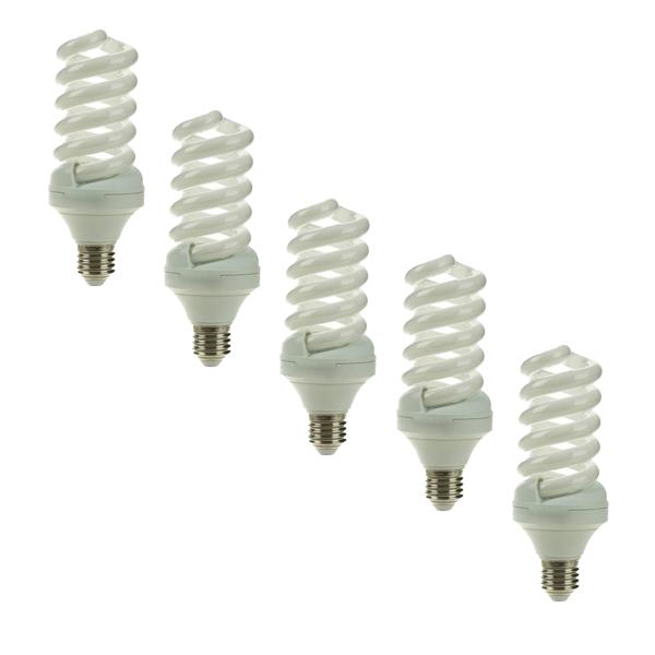 لامپ کم مصرف 32 وات لامپ نور مدل BL پایه E27 بسته 5 عددی