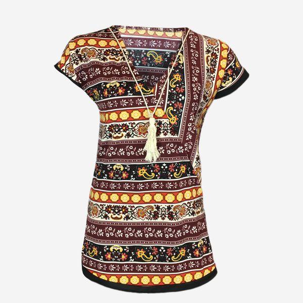 تی شرت آستین کوتاه زنانه مدل e1441A