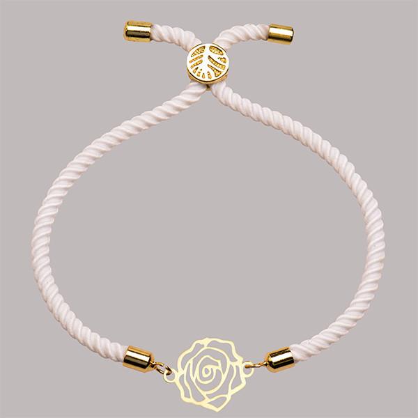 دستبند طلا 18 عیار دخترانه کرابو طرح گل رز مدل Krd1494