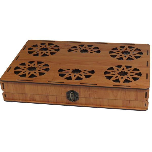 جعبه کادو پذیرایی دمنوش  چای کیسه ای لوکس باکس طرح کلاسیک کد LB016